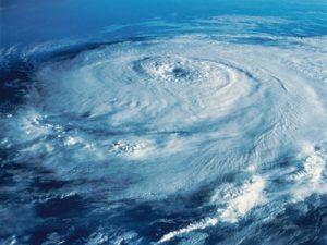 satalite image of a hurricane